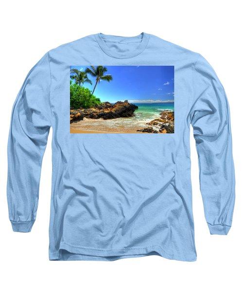 Makena Secret Cove Paako Beach Long Sleeve T-Shirt by Kelly Wade