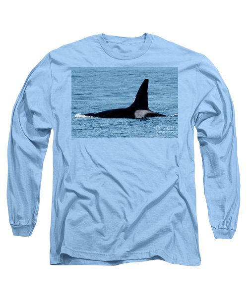 Long Sleeve T-Shirt featuring the photograph Male Orca Killer Whale In Monterey Bay 2013 by California Views Mr Pat Hathaway Archives