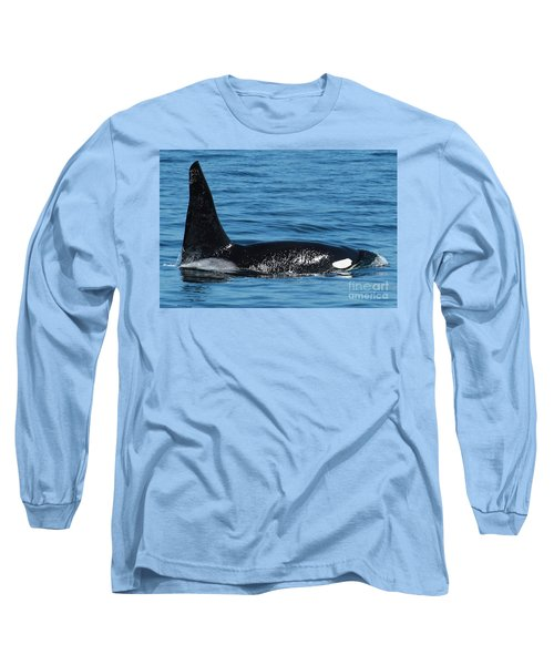 Long Sleeve T-Shirt featuring the photograph Lonesome George Ca165  Male Orca Killer Whale In Monterey Bay California 2013 by California Views Mr Pat Hathaway Archives