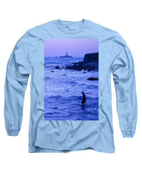 Man And Lighthouse Long Sleeve T-Shirt