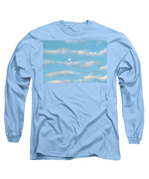 Long Sleeve T-Shirt featuring the photograph Man In The Moon In The Clouds by Fortunate Findings Shirley Dickerson