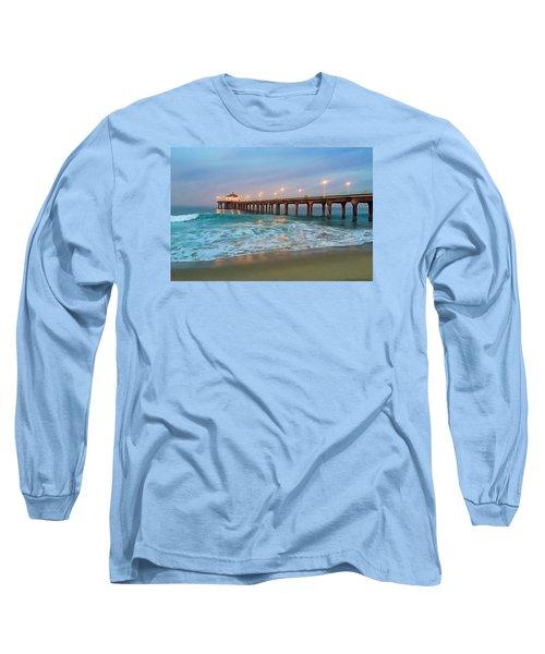 Manhattan Beach Reflections Long Sleeve T-Shirt