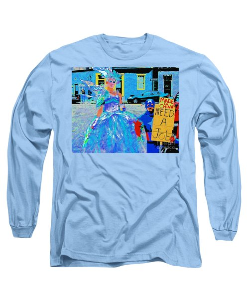 Mardi Gras New Orleans Long Sleeve T-Shirt by Luana K Perez
