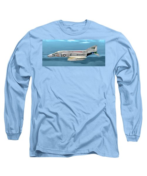 Marine F-4 Phantom  Painting Long Sleeve T-Shirt
