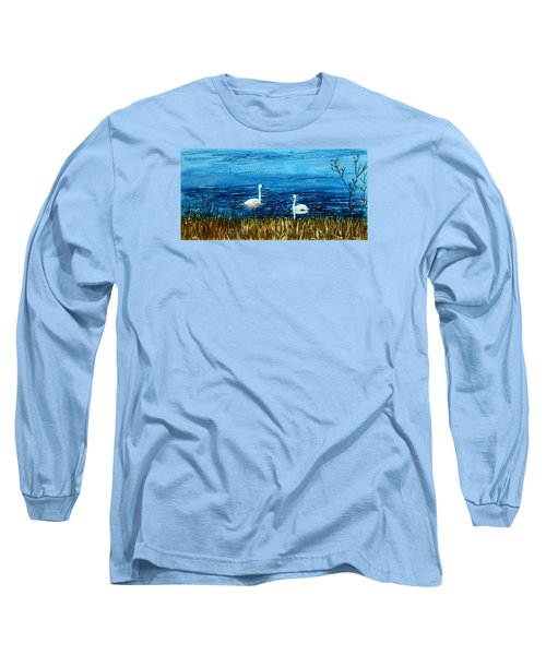 Marion Lake Swans Long Sleeve T-Shirt