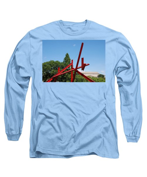 Mark Di Suvero Steel Beam Sculpture Long Sleeve T-Shirt