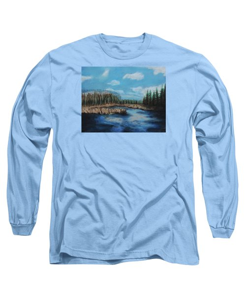 Marshland 1 Long Sleeve T-Shirt by Jeanne Fischer