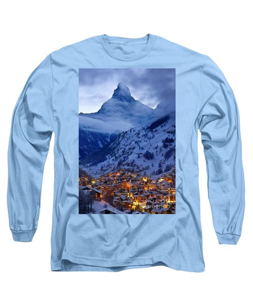 Matterhorn At Twilight Long Sleeve T-Shirt by Brian Jannsen