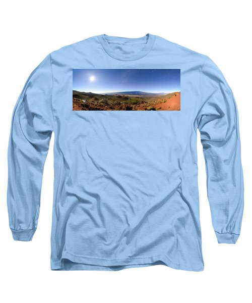 Mauna Loa Moonlight Panorama Long Sleeve T-Shirt