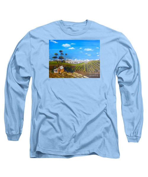 Mclarren Vale Vine Yards Long Sleeve T-Shirt by Pamela  Meredith