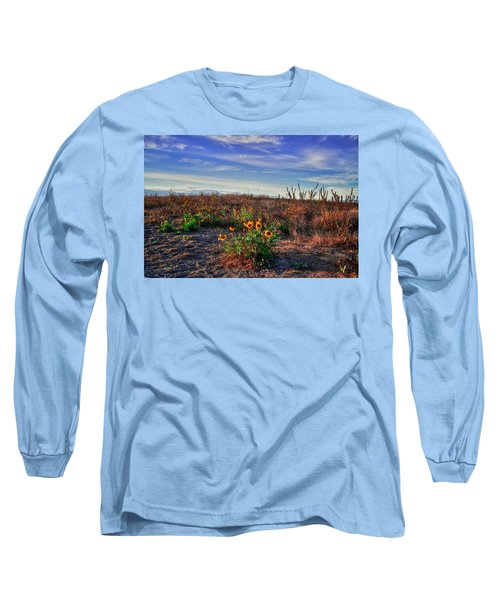 Long Sleeve T-Shirt featuring the photograph Meadow Of Wild Flowers by Eti Reid