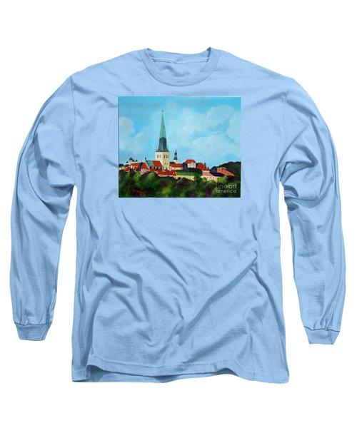 Medieval Tallinn Long Sleeve T-Shirt by Laurie Morgan