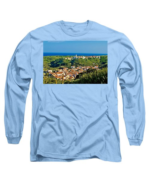 Mediterranean Town Of Susak Croatia Long Sleeve T-Shirt