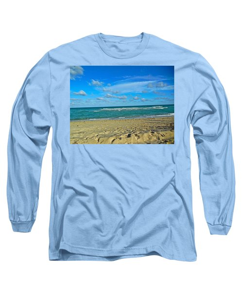 Miami Beach Long Sleeve T-Shirt by Joan Reese