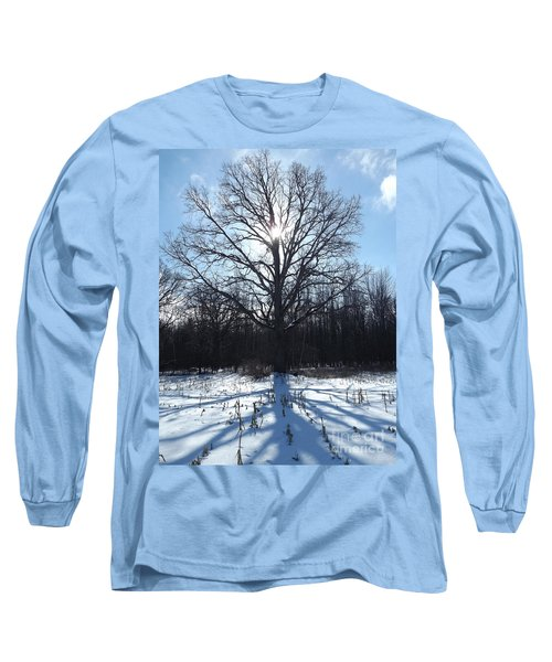 Mighty Winter Oak Tree Long Sleeve T-Shirt