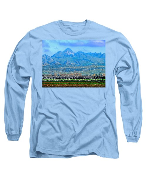Migrating Birds Over Sutter Wilflife Refuge Long Sleeve T-Shirt
