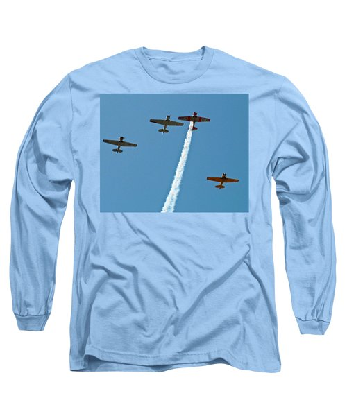Long Sleeve T-Shirt featuring the photograph Missing Man Flyover by Allen Sheffield
