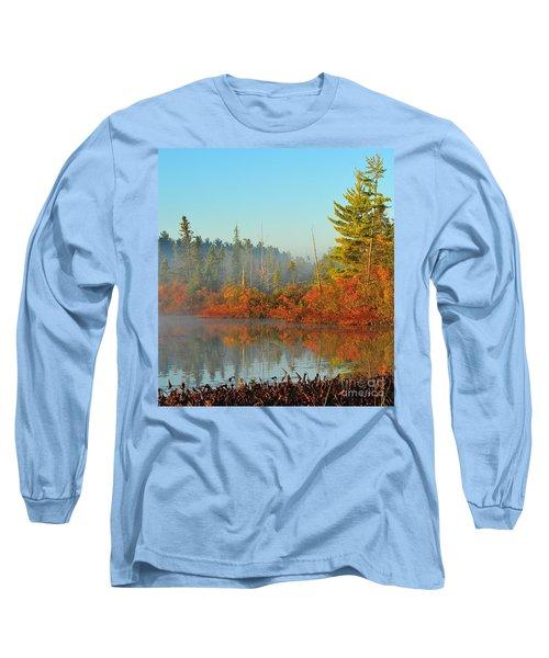 Misty Marsh Long Sleeve T-Shirt by Terri Gostola