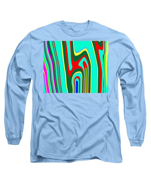Long Sleeve T-Shirt featuring the painting Mod Stripes  C2014 by Paul Ashby