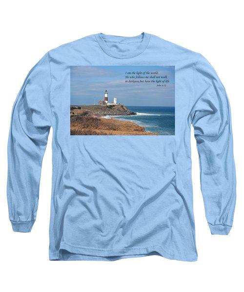 Montauk Lighthouse/camp Hero/inspirational Long Sleeve T-Shirt
