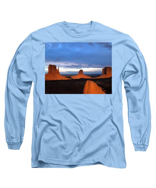 Monument Valley @ Sunset 2 Long Sleeve T-Shirt by Jeff Brunton