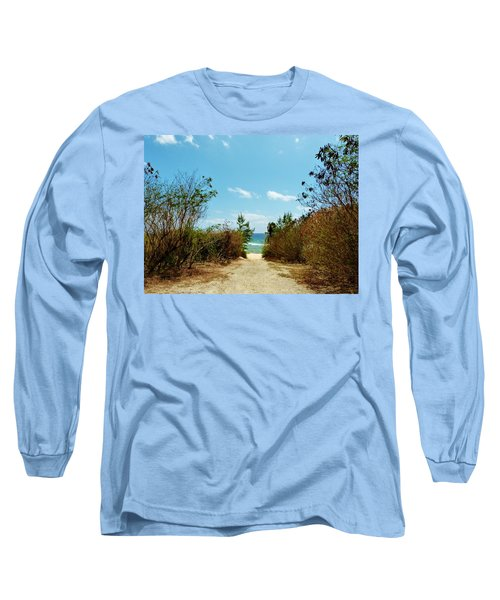 Long Sleeve T-Shirt featuring the photograph Moon Bay Walk by Amar Sheow