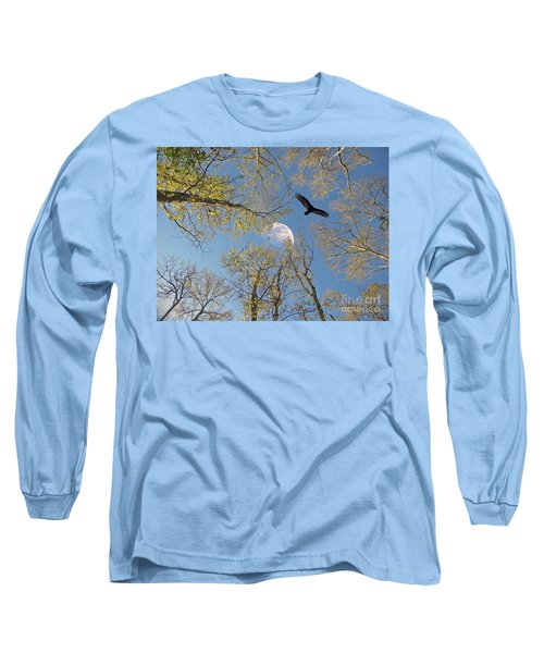 Long Sleeve T-Shirt featuring the photograph Moon Trees by Savannah Gibbs