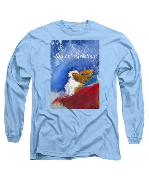 Moonstruck Holiday Card Long Sleeve T-Shirt by Loretta Luglio