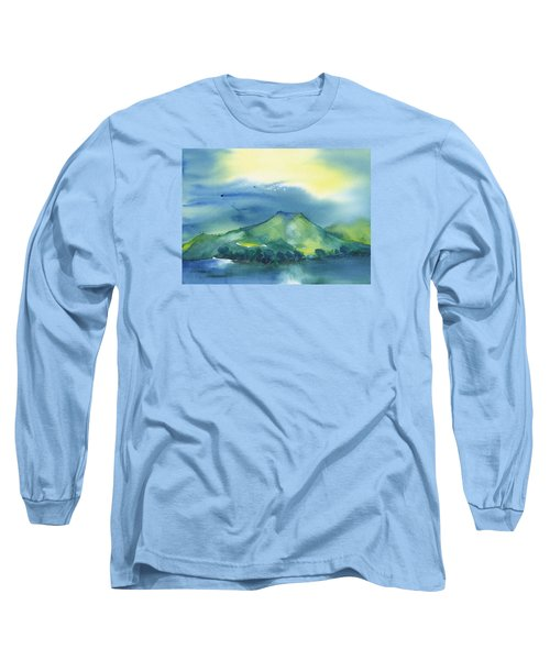 Long Sleeve T-Shirt featuring the painting Morning Over The Mountain by Frank Bright