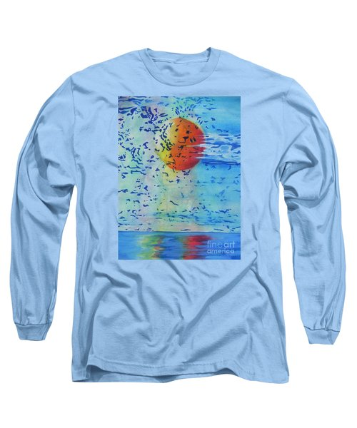 Long Sleeve T-Shirt featuring the painting Mother Nature At Her Best  by Chrisann Ellis