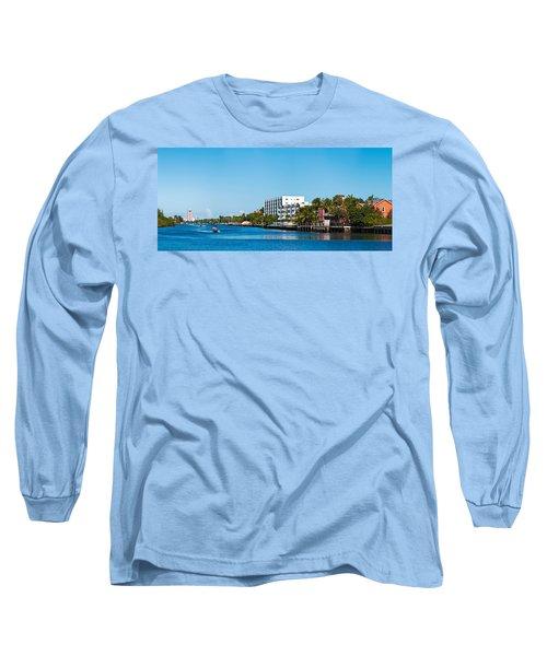 Motorboats On Intracoastal Waterway Long Sleeve T-Shirt