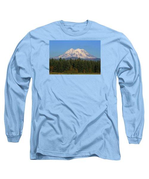 Long Sleeve T-Shirt featuring the photograph Mount Rainier Washington by Tom Janca