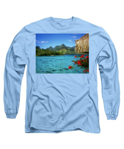 Long Sleeve T-Shirt featuring the painting Mountain Lake by Bruce Nutting
