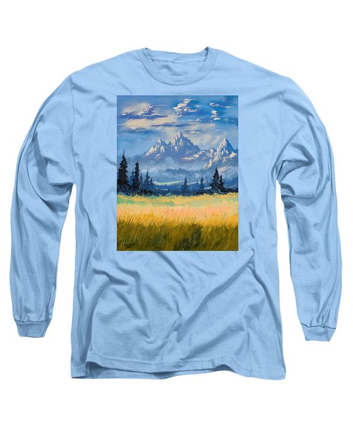 Mountain Valley Long Sleeve T-Shirt by Richard Faulkner