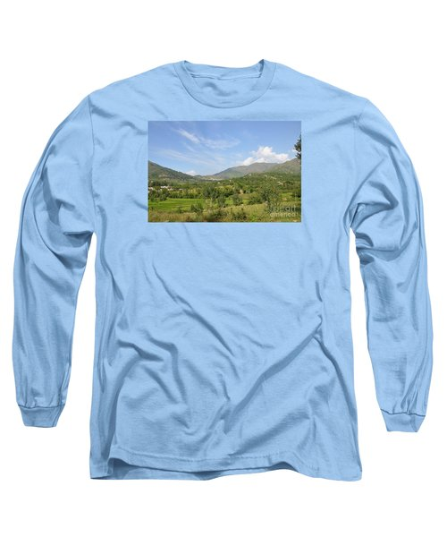 Long Sleeve T-Shirt featuring the photograph Mountains Sky And Clouds Swat Valley Pakistan by Imran Ahmed