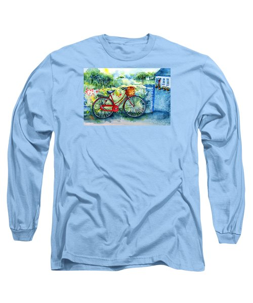 My Red Bicycle Long Sleeve T-Shirt by Trudi Doyle
