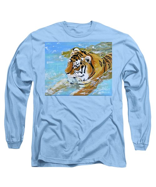 My Water Tiger Long Sleeve T-Shirt by Phyllis Kaltenbach