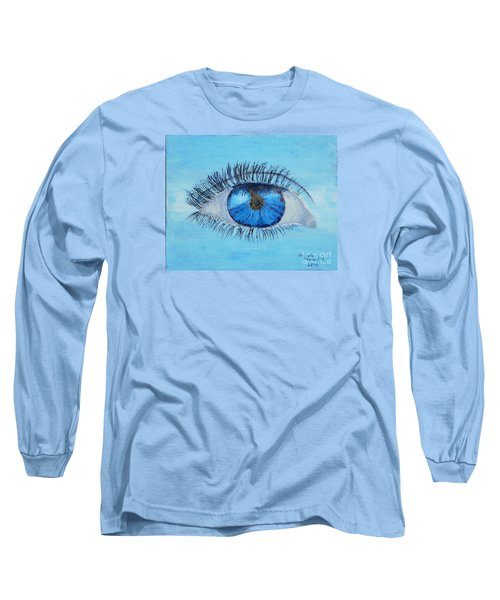 Long Sleeve T-Shirt featuring the painting Mystic Eye by Pamela  Meredith