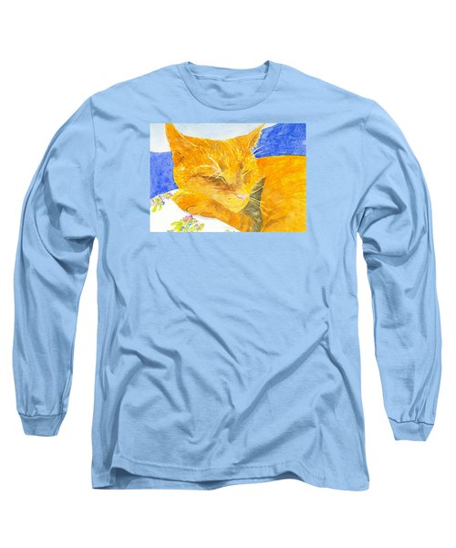 Nappy Cat Long Sleeve T-Shirt by Anne Marie Brown