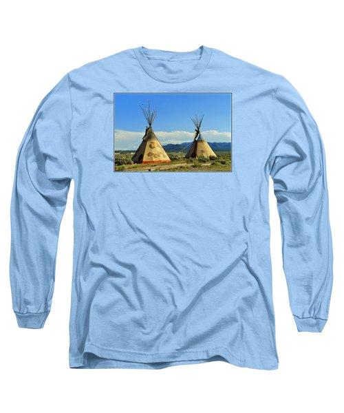 Native American Teepees  Long Sleeve T-Shirt