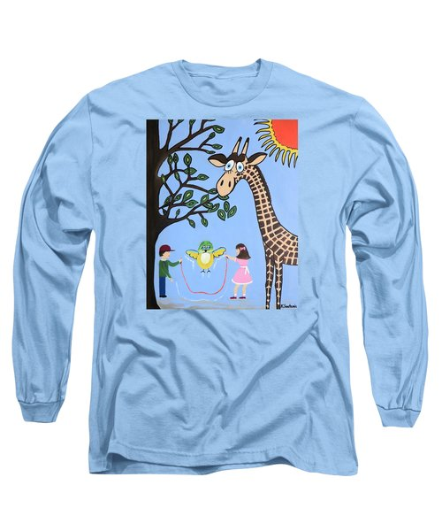 Long Sleeve T-Shirt featuring the painting Nature's Playground by Kathleen Sartoris