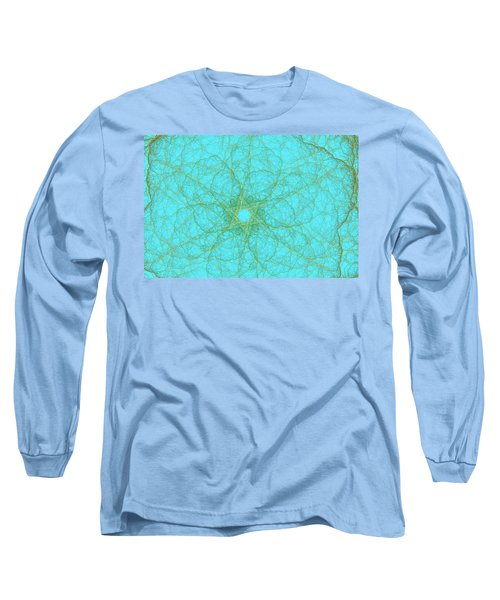 Nerves Green Blue Long Sleeve T-Shirt