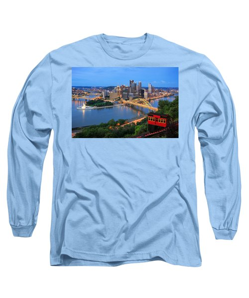 Pittsburgh Summer  Long Sleeve T-Shirt by Emmanuel Panagiotakis