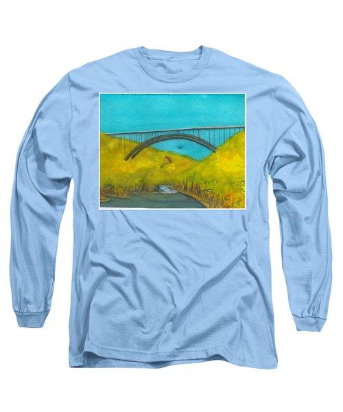 New River Gorge Bridge On Bridge Day Long Sleeve T-Shirt