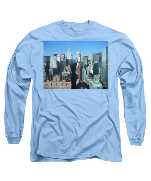 Long Sleeve T-Shirt featuring the photograph New York City Skyline by Dora Sofia Caputo Photographic Art and Design