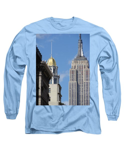 Long Sleeve T-Shirt featuring the photograph New York New York by Ira Shander
