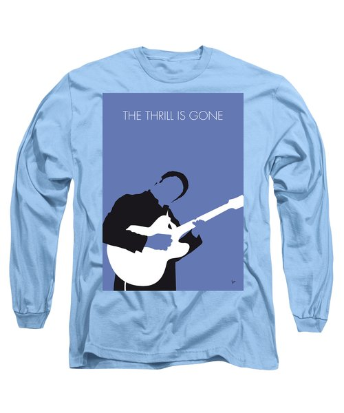 No048 My Bb King Minimal Music Poster Long Sleeve T-Shirt