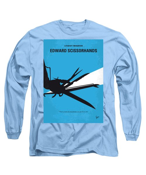 No260 My Scissorhands Minimal Movie Poster Long Sleeve T-Shirt by Chungkong Art