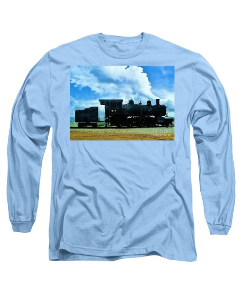 Norfolk Western Steam Locomotive 917 Long Sleeve T-Shirt by Janette Boyd