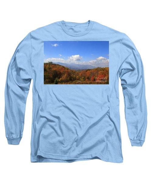 North Carolina Mountains In The Fall Long Sleeve T-Shirt